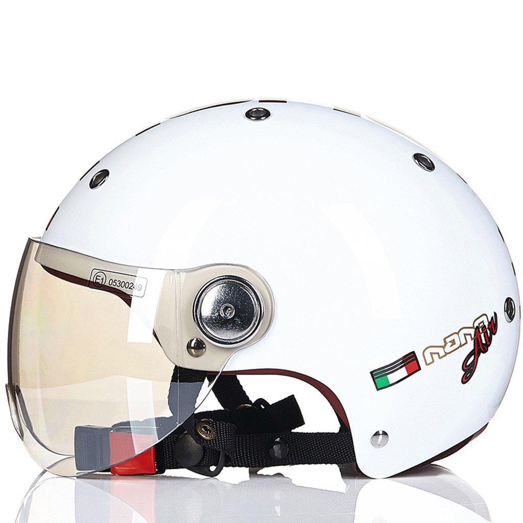 DGF ヘルメット電動バイクスケート安全セミカバー春夏軽量レトロ男性と女性スポーツアンチコリジョンヘルメットマルチカラー通気性汗 (色 : A, サイズ さいず : L l) B07FW26CGP L l|A A L l