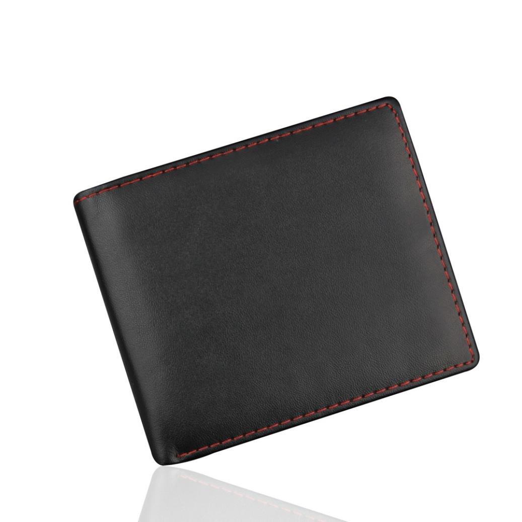 Clearance! CieKen Men Bifold Business PU Leather Wallet ID Credit Card Holder Purse (Black)