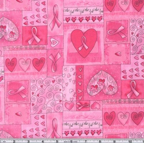 Timeless Treasures CC-410 Hearts of Hope Pink Fabric by the Yard