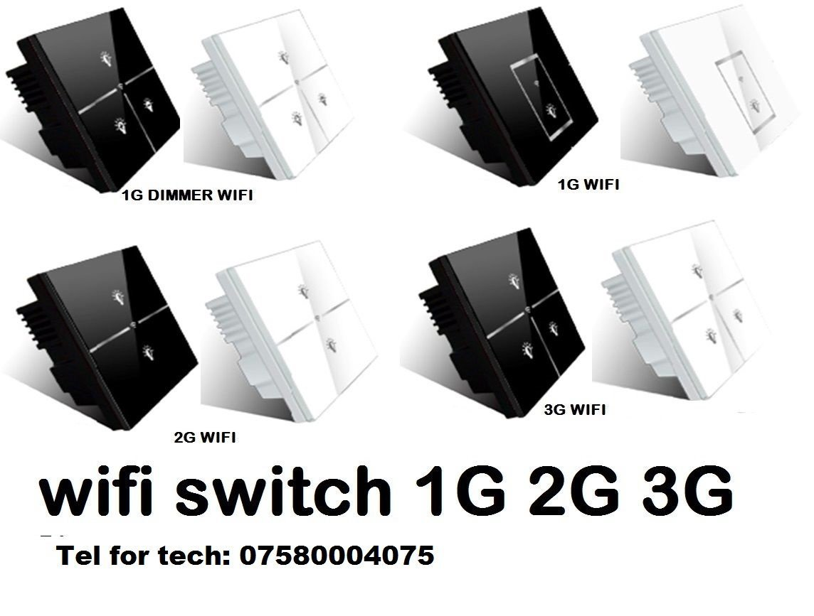 LIGHT SWITCH HOME AUTOMATION ON OFF WIFI 3G 4G LTE IPHONE ANDROID ...