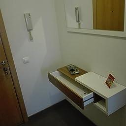 Habitdesign 0N6743A - Recibidor con cajón + Espejo, Medidas ...