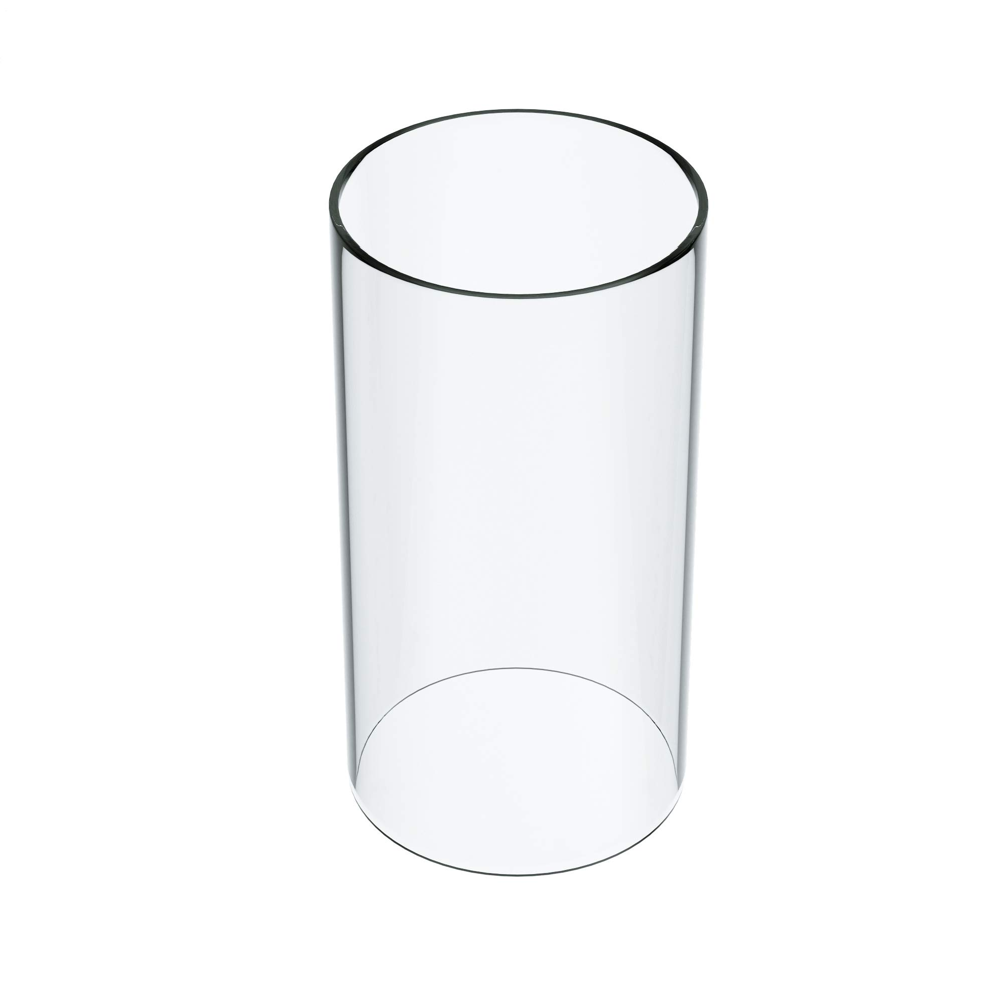 KETELAMP Hurricane Candle Holder Glass, Open Ended Glass, Cylinder Vase Open, Glass Lamp Shade of 5.5'' x 9'' (Multiple Specifications)