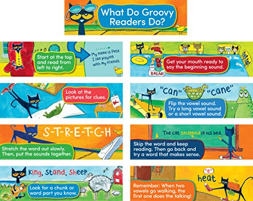 Pete The Cat Reading Strategies Mini Bulletin Board (Cat Reading)