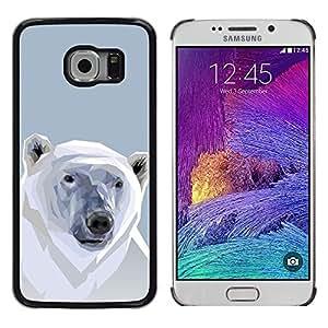 Caucho caso de Shell duro de la cubierta de accesorios de protección BY RAYDREAMMM - Samsung Galaxy S6 EDGE - Polígono Oso Polar