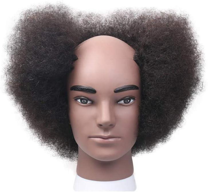 Wangxn Tete De Formation Coiffure Homme Africain Cheveux Boucles Cheveux Humains Traininghead Amazon Fr Sports Et Loisirs