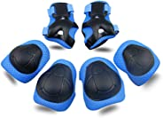 Kids Protective Gear SKL Knee Pads for Kids Knee and Elbow Pads with Wrist Guards 3 in 1 for Skating Cycling Bike Rollerbladi