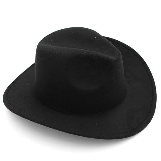 a781fa986 Elee Kids Boys Girls Felt Cowboy Hat Wool Blend Children Western Cowgirl Cap