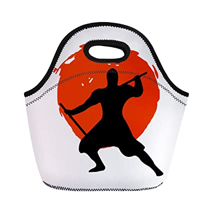 Amazon.com: Semtomn Neoprene Lunch Tote Bag Action Ninja ...