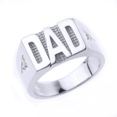 Sterling Silver DAD Ring MANY SIZES FJZhfiu
