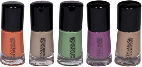 b4522a9b187 Image Unavailable. Image not available for. Colour  VIVIANA Nail Paints  Combo
