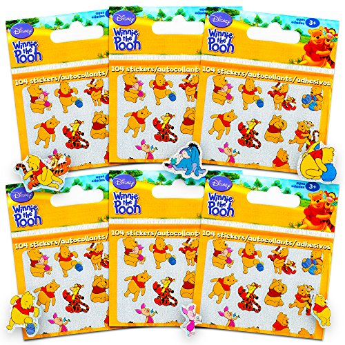 Winnie the Pooh Stickers Party Favors ~ 624 Reward Stickers (Set of 6 Sticker Packs, Classic Assort) (Pooh The Merchandise Winnie)