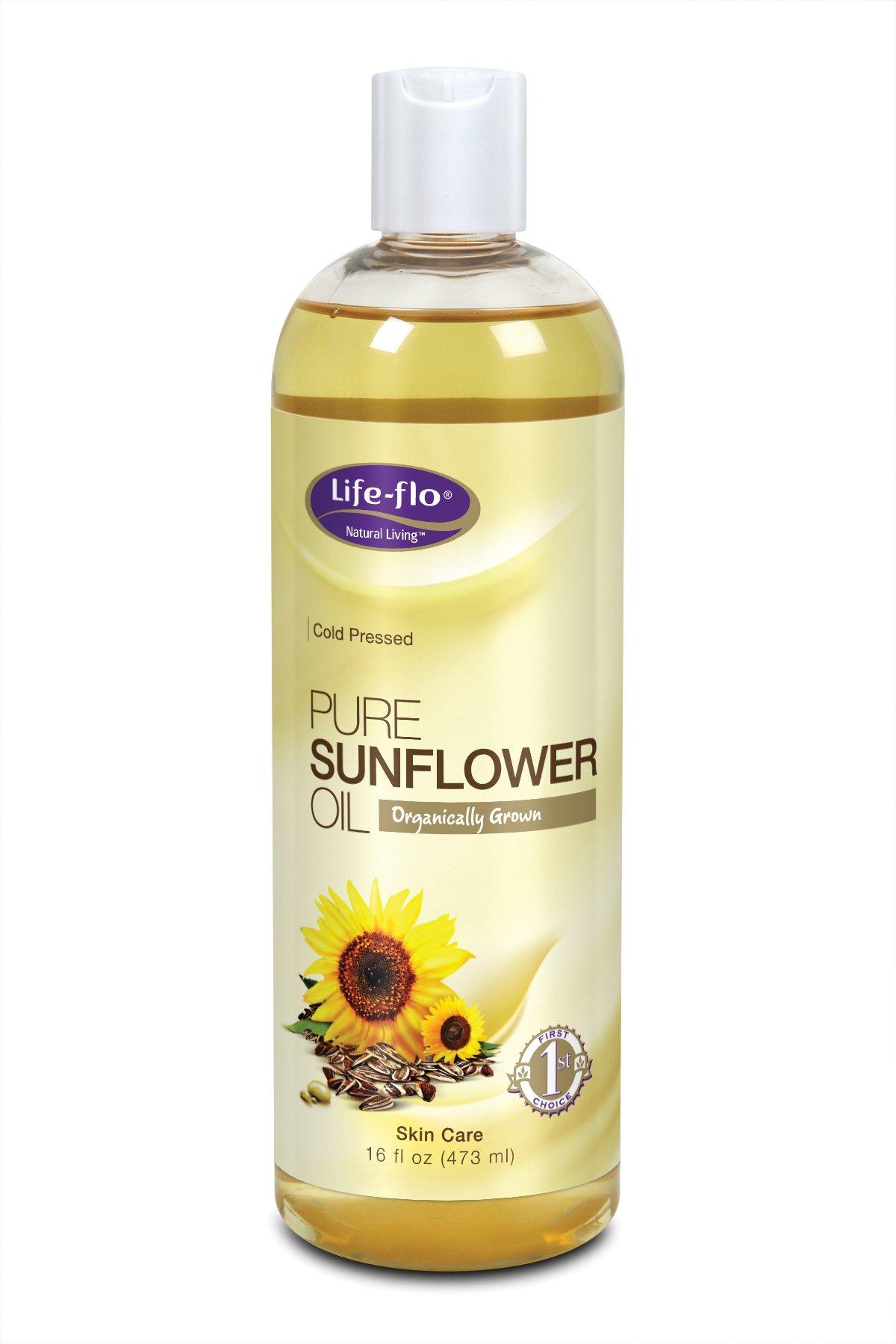 Life-Flo Organic Pure Sunflower Oil, 16 Ounce
