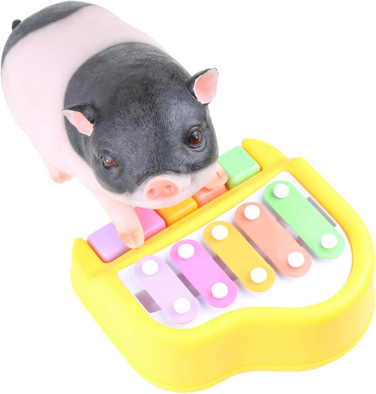 Mini Pig Toy Small Piano to Earn Treat Rewards Enrichment Toy with Different Sounds