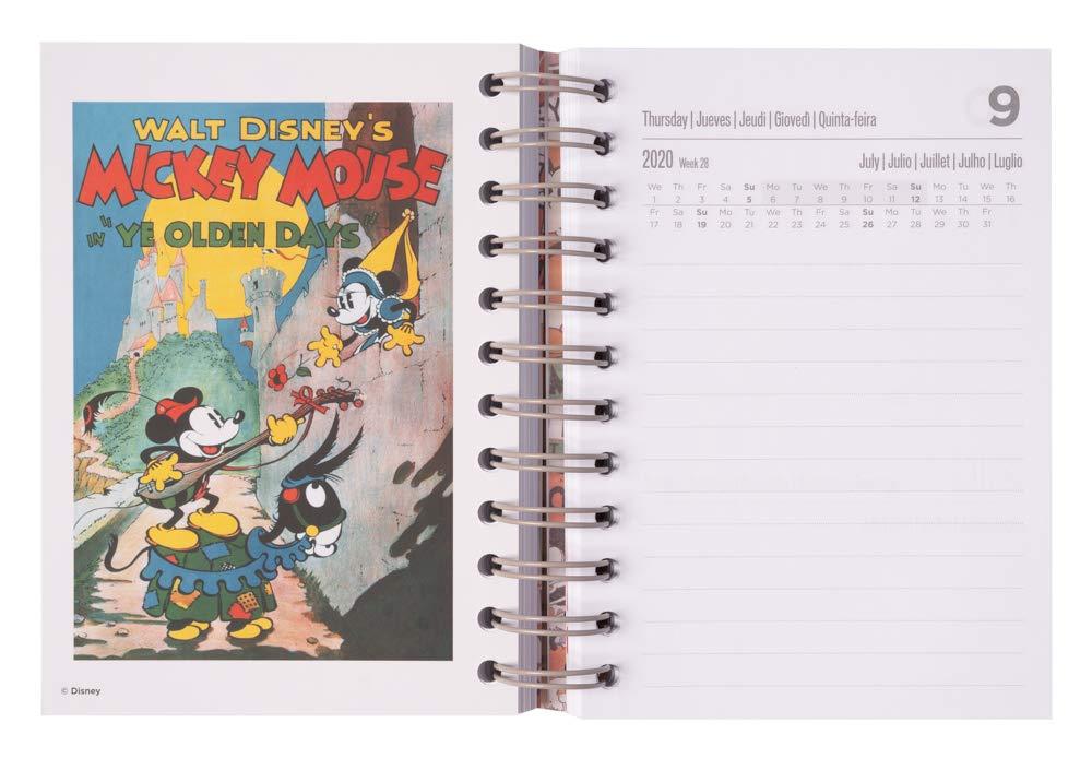 11,4x16 cm Erik/® casa Agenda annuale 2020 multiuso: scuola lavoro Special Edition giornaliera Mickey Mouse Films