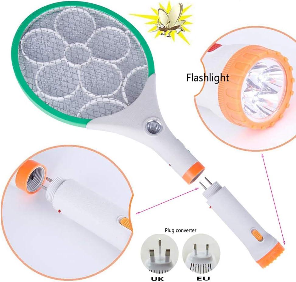 wetwgvsa Raquette Anti-moustiques /électrique Permet de Se D/ébarrasser des Moustiques USB /Éclairage LED Double Couche de Protection en Maille