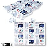 """HEROLILY Reusable Ice Sheets Packs, Flexible Freeze Coolers Long Lasting for Food Shipping Hiking Camping Outdoor, 15.2"""" x 11.1"""" 4 Ply Re-freezable Pain Relief Cold Therapy Cold Pack -12 Sheets"""