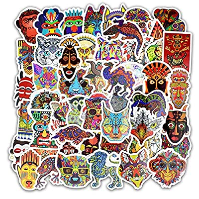 Cute VSCO Stickers Laptop Stickers Water Bottle Stickers Luggage Decal Graffiti Patches Skateboard Stickers No-Duplicate Sticker for Kids Teens Girls (50 Pcs Ethnic Style): Arts, Crafts & Sewing
