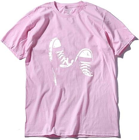 WEFAAS Camisetas 100% Algodón Casual De Manga Corta Zapatos De Skate Hombres Camiseta Fresca del Verano Fresco Hombres Camiseta, XL: Amazon.es: Deportes y aire libre