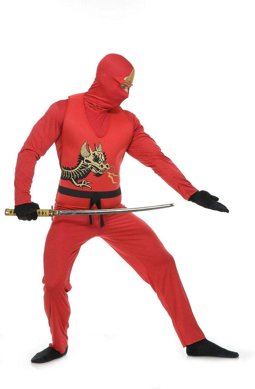 Adults Mens Red Ninja Avenger Series 2 Martial Arts Costume