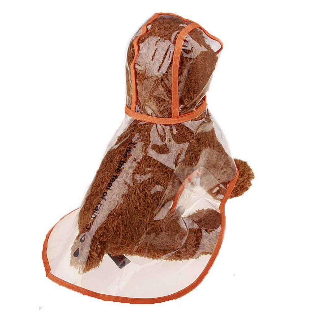 CHIGANT Pet Chien imperméable Poncho, Chien pour Animal Domestique imperméable léger Plastique Transparente Poncho de Pluie Veste de Pluie, Blanc/Vert/Orange/Rose,