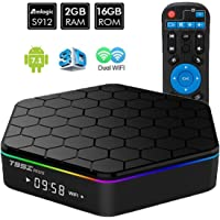 Android 7.1 Smart TV Box - T95Z Plus Amlogic S912 Octa Core 2GB DDR RAM /16GB eMMC ROM Bluetooth 4.0 1000M Ethernet H.265 support 4K resolution Player with Dual WiFi 2.4GHz/5GHz