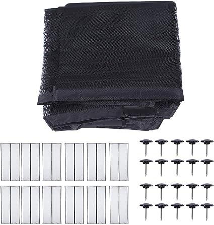 FastUU Puerta de Garaje, Resistente Resistente 120X210Cm Puerta para Pantalla magnética, plegada para Puerta corredera Ventana de Piso a Techo Puerta Simple y(Polyester Cloth Edging): Amazon.es: Hogar