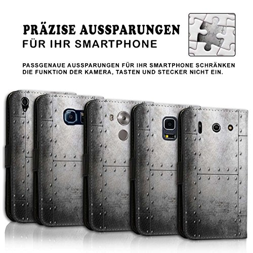 Wallet Book Style Flip Handy Tasche Case Schutz Hülle Schale Motiv Etui für Apple iPhone 5 / 5S - Design Flip MVD152