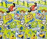 Disney & Pixar Characters Wrapping Paper Gift Wrap - Toy Story Nemo Incredibles & Wall-E (2.5 Feet Wide - 20 Square Feet)