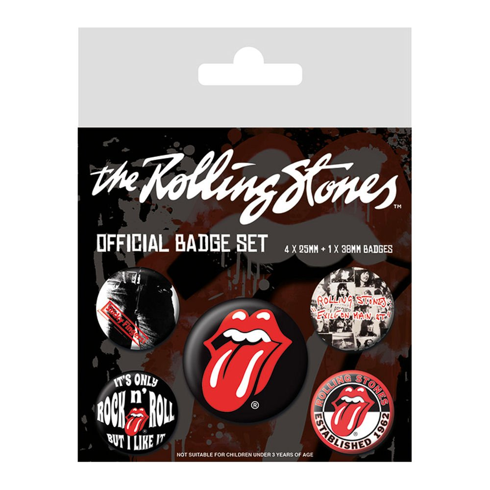 Rolling Stones (Classic) 5 Piece Pin Badge Pack Official Licensed Merchandise Pyramid BP80465