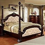 What Are the Dimensions of a Cal King Mattress 247SHOPATHOME Idf-7296LA-EK-C Bed-Frames, King, Dark Walnut