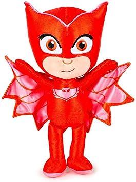 PJ Masks Héroes en Pijamas 5961 Peluche, 23 Centímetros, Calidad Super Suave, Gatuno, Buhíta, Gecko (Buhíta)