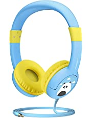 Mpow Kids Headphones, CH1 Wired Headphones Children On Ear, Friendly Safe Food Grade Material Durable, 85 dB Volume Limited Hearing Protection, Music Share Function for Children Toddler Baby School