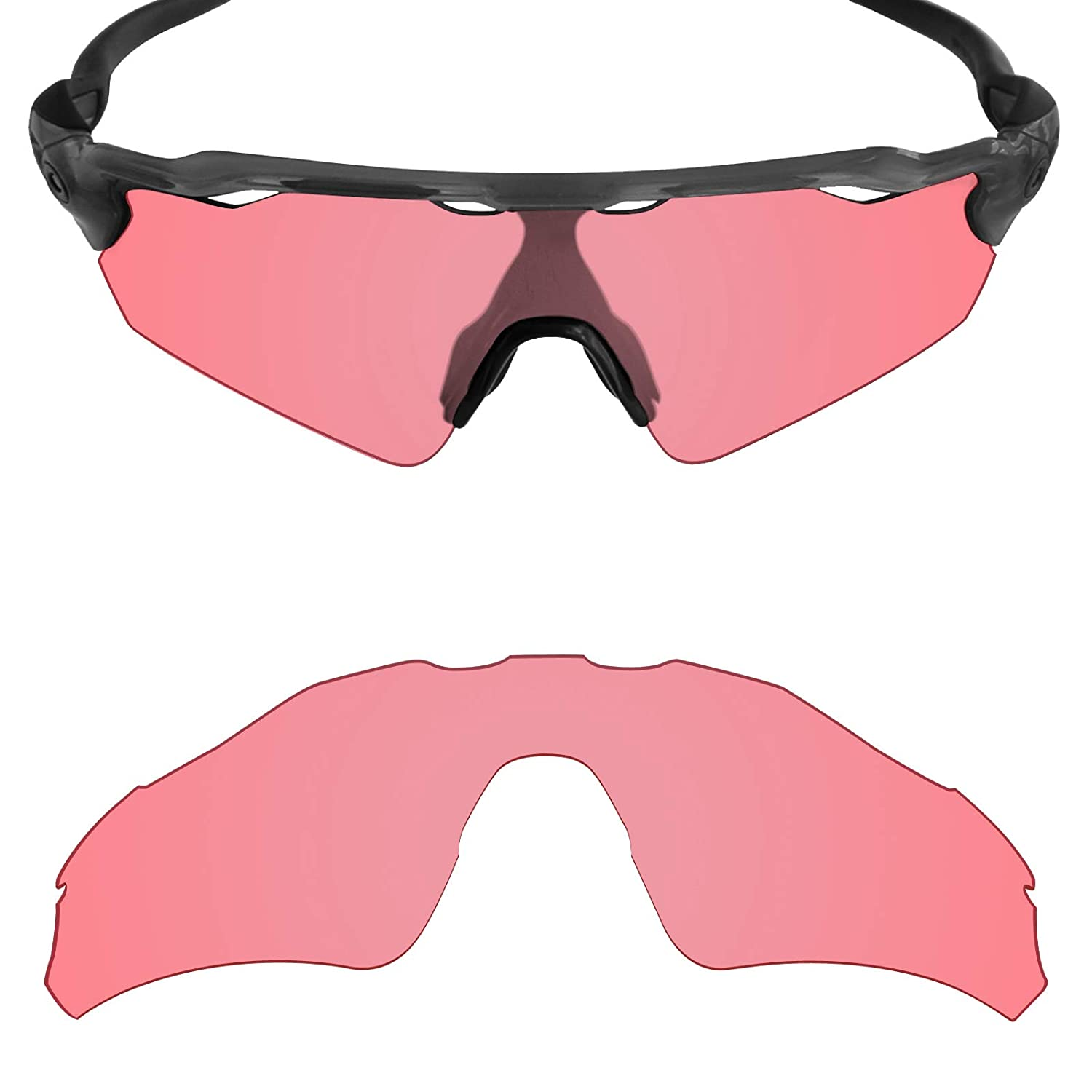 e50f491339 Amazon.com  Mryok UV400 Replacement Lenses for Oakley Radar EV Path - HD  Pink  Clothing