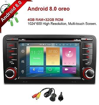 Freeauto para Audi, A3, S3, 7 pulgadas, Android 8.0, pantalla multitáctil