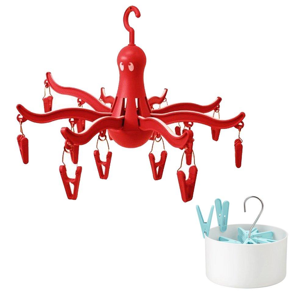 Ikea Rojo Colgar secador de Ropa lavandería Percha Pulpo ...