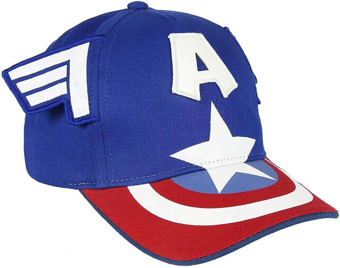 Artesania Cerda Gorra Innovación Avengers Capitan America, Rojo ...