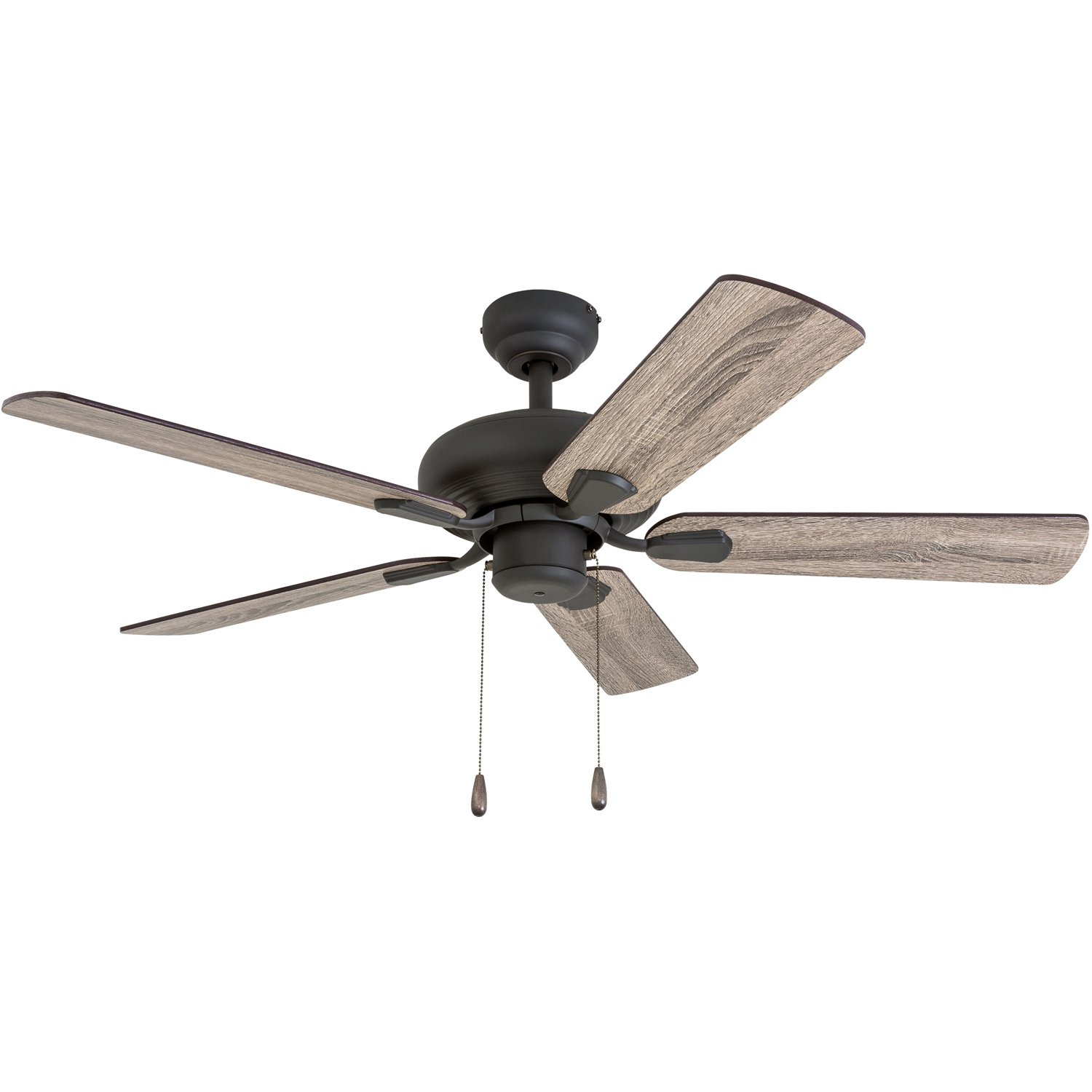 Prominence Home 50587-01 Russwood Traditional Ceiling Fan, 42'', Barnwood/Tumbleweed, Aged Bronze