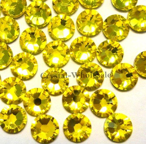 144 Swarovski 2028 / 2038 16ss HOTFIX crystal flatbacks ss16 CITRINE A HF