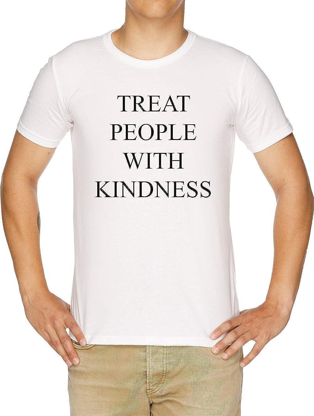 Treat People with Kindness Camiseta Hombre Blanco: Amazon.es ...