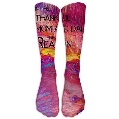 Im The Reason Mom And Dad Are Thankful Football Soccer Socks Tube Sports Casual Long Socks