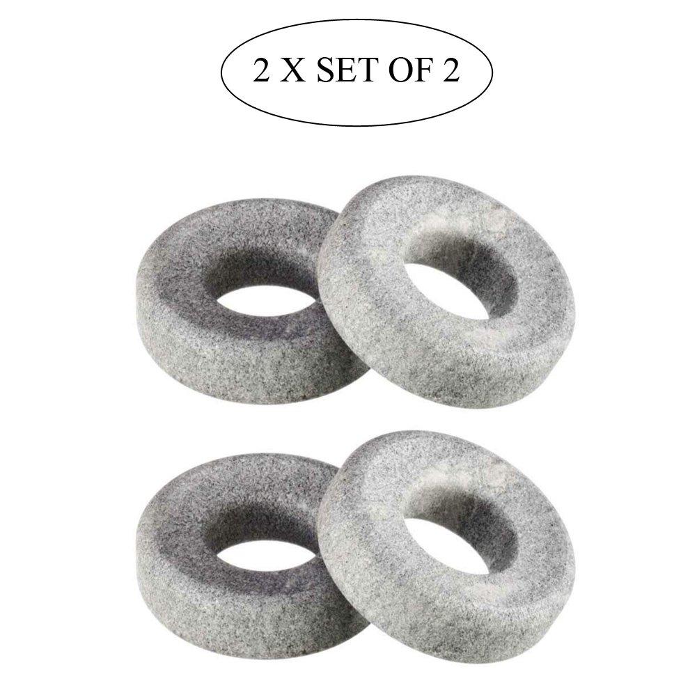 Cooling Eye Orbits, 100% Finnish Soapstone, 2 x Set of 2 by Hukka Design (Image #1)