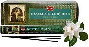 120 Incense Sticks Bulk Pack, HEM, Zen Aromatherapy, 6 Boxes of 20 Sticks - Egyptian Jasmine