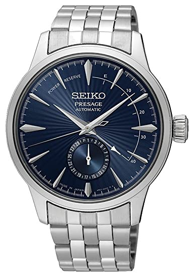 new concept b8d0b f3d1f Seiko Men's 40mm Steel Bracelet & Case Automatic Blue Dial Watch SSA347J1