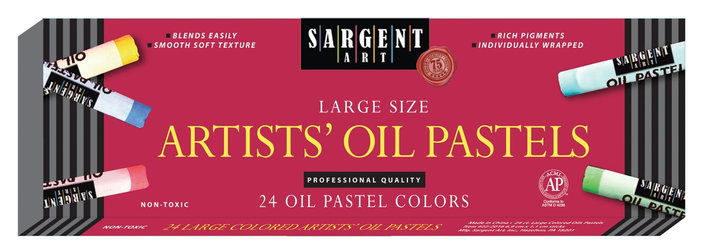 Sargent Art 22-2016 24 Count Large Oil Pastels, Assorted