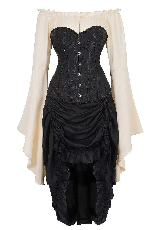 Amazon.com: Corsé vestido steampunk para las mujeres Bustier ...