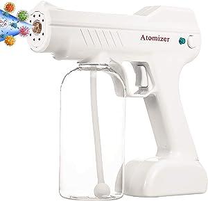 MaikcQ Cordless Automatic Nano Fogger Machine Portable Atomizer 800ML Sprayer Gun Spray Fogger for Home Or Stores White