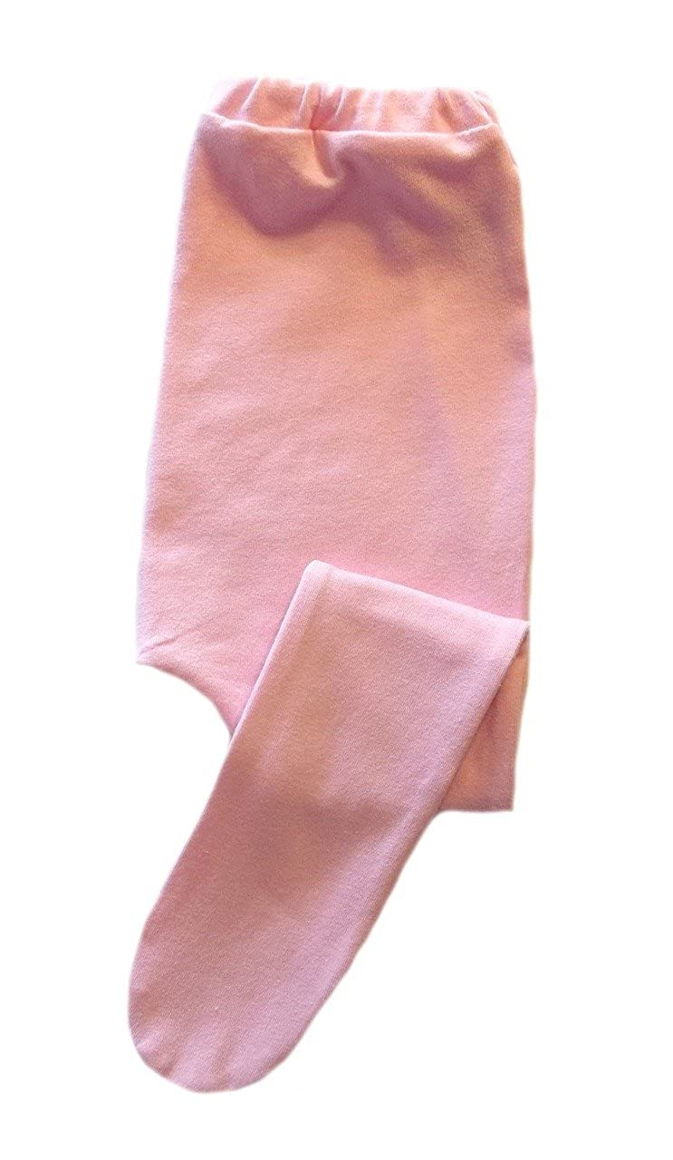Jacquis Baby Girls Light Pink Cotton Spandex Knit Tights