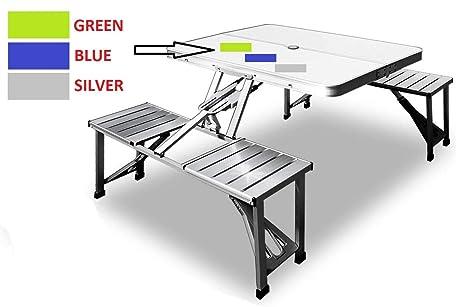 SHOPPERS STOP - Juego de Mesa y sillas Plegables de Aluminio ...