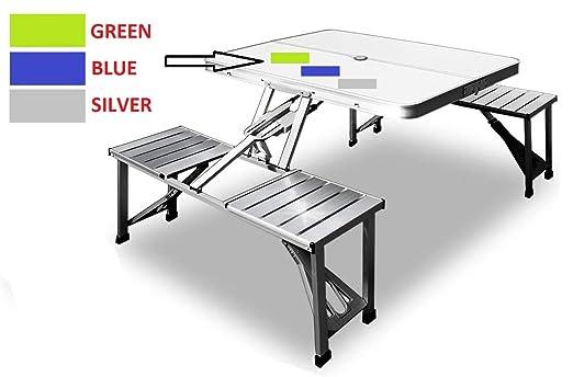 SHOPPERS STOP - Juego de Mesa y sillas Plegables de Aluminio (88 x ...