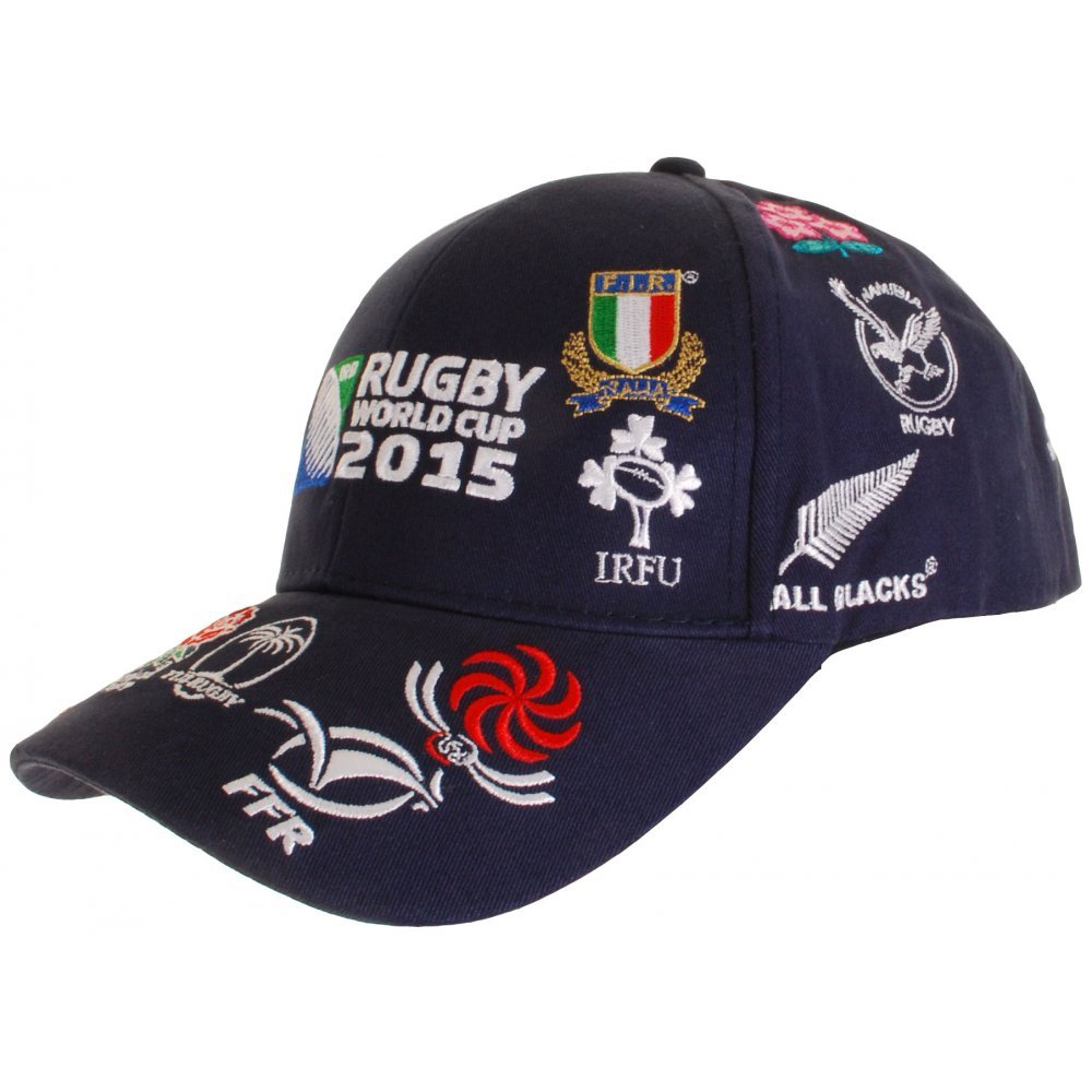 ca813fa14a5 RWC 2015 20 Nations Rugby Cap Navy - size One Size  Amazon.co.uk  Sports    Outdoors